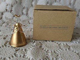 Avon Gift Collection Gilded Glass Angel Ornament 1997 - $8.72