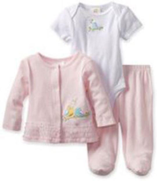 Primary image for Absorba Baby Girls Newborn Bodysuit And Footed Pant Set With Knit Top
