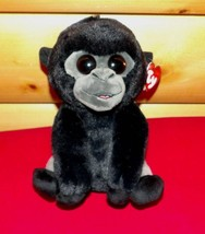 "TY Plush VelveTy Classic 8"" Black & Silver Gray ""BO"" Gorilla with Amber ... - $8.89"