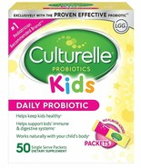 Culturelle Kids Daily Probiotic Packets Dietary Supplement 50 Single Pac... - $42.56