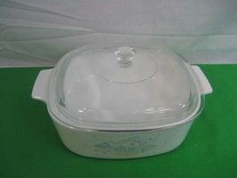Corning Ware Country Cornflower A-2-B Casserole with Clear Glass Lid 2 Liter - $18.65