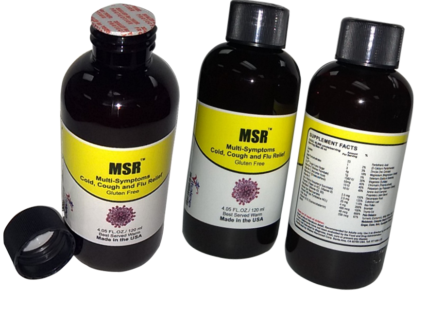 Primary image for MSR-Organic Cough, Cold, Flu Throat Infection, Stuffy Nose Rapid Relief (120 ml)