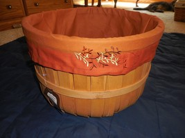 New Large Round Basket Fall Halloween Harvest Changeable Liner Thanksgiving - $13.88