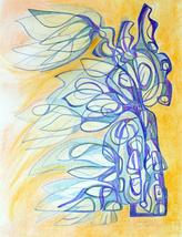 """art Drawing- original, """"Evanescent"""", René Castillo-Ramos - $125.00"""