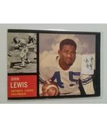 1962 Topps #51 Dan Lewis Team: Detroit Lions - $2.80