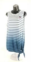 Chaps by Ralph Lauren Womens Flag Lake White & Blue Striped Sleeveless T... - $18.95