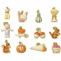 Lenox Autumn Delights Thanksgiving Miniature Tree Ornaments 12 Turkey Ac... - $97.02