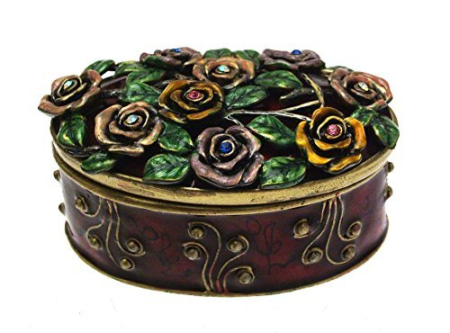 Primary image for Iauctionshop Enamel and Coloured Diamante Metal Trinket Box Design 2