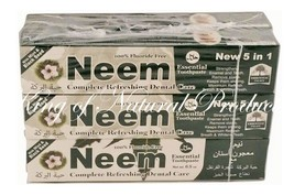 NEEM TOOTHPASTE 100 % FLUORIDE FREE NEW 5 IN 1 FORMULA 2 DOZEN (SHIPPING... - $40.19