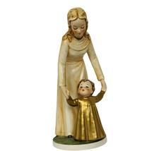 Goebel MI Hummel figurine Germany Sculpture Shining Hour Gold BYJ56 Moth... - $272.25