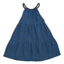 NWT Mud Pie Girls Sleeveless Braided Denim Dress 2T 3T 4T 5T - $16.99