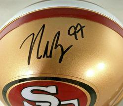 NICK BOSA / SAN FRANCISCO 49ERS / AUTOGRAPHED 49ERS LOGO MINI HELMET / COA image 2
