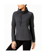 32 Degrees Women's Funnel Neck Fleece Top, Heather Charcoal, M - $15.75