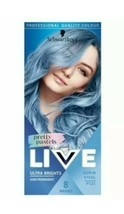 Schwarzkopf Live Intense Or Pastel Denim Steel Baby Blue Semi-Permanent Hair Dye - $14.10