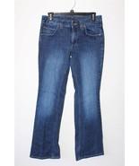 W7832 Womens TOMMY HILFIGER Dark Wash Stretch BOOT CUT JEANS Denim 4 SHORT - $15.45