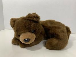 Ty Beanie Buddy Classic Brownie brown teddy bear lying laying down 1995 vintage - $12.86