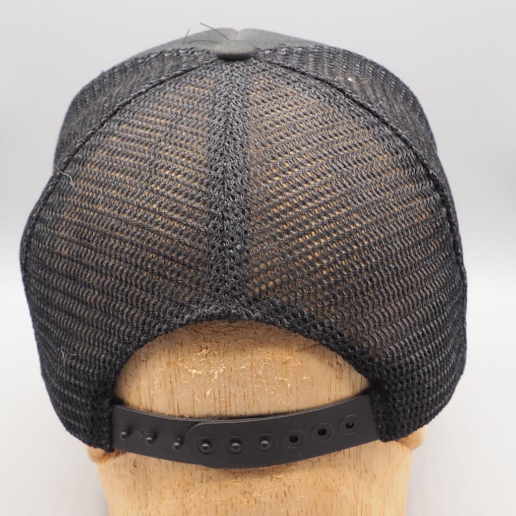 Vintage Hawaii Snapback Hat Cap Mesh Trucker Black Embroidered