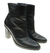 COLIN STUART Black Leather Side Zip Ankle Boots Size 8M Brazil - $18.80