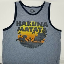 Disney THE Lion King  HAKUNA MATATA Men's Tank Top Gray Sz XL Pumba Simb... - $11.11
