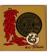 Teissedre Ceramic Tile Southwestern Design Signed 1983 - $21.99