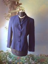 Kasper Petite Long Sleeve Purple 100% Silk Suit Jacket Blazer SZ 12P - $29.69