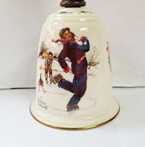 Gorham Norman Rockwell Bell Gay Blades 1978  Porcelain & Wooden Handle 8... - $8.95