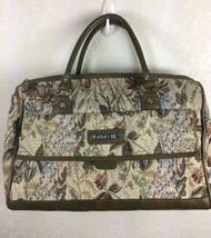 Vintage Jordache Tapestry Saddlebag Overnight Luggage Bag - $447,79 MXN