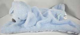 Baby GUND COMFY COZY FLUFFEY BLUE DOG Mat Security Blanket LOVEY SOFT BA... - $24.74
