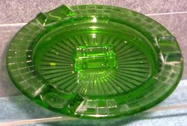 DEPRESSION GLASS-- HAZEL ATLAS CHECKERBOARD ASHTRAY - $24.95