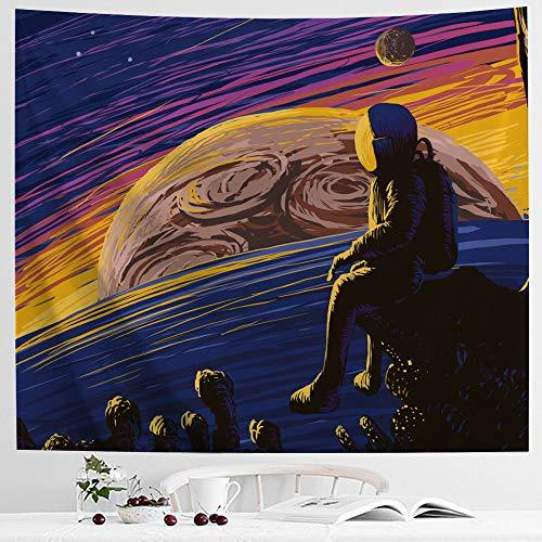 IcosaMro Space Tapestry, Astronaut Men Wall Decor, Stars Planets Mars Earth Wall