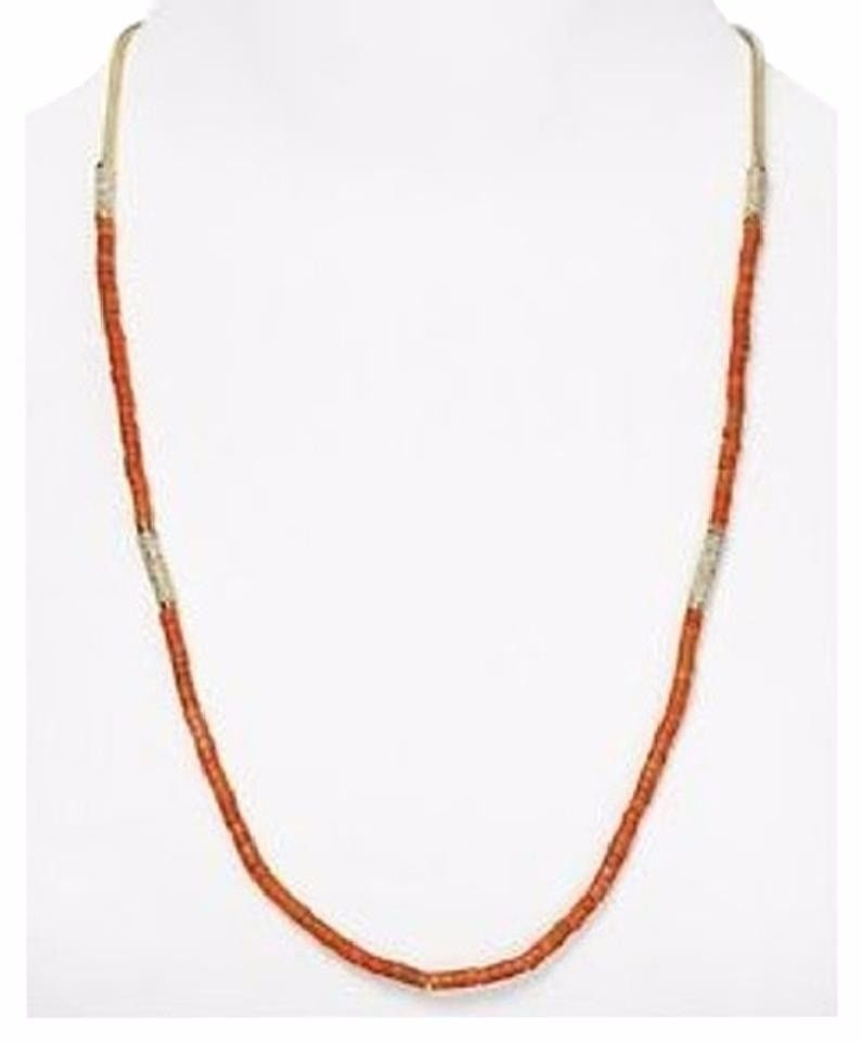 Primary image for Michael Kors MKJ1739710 Coral Beaded Summer Jet Set Necklace with Pave Detailes