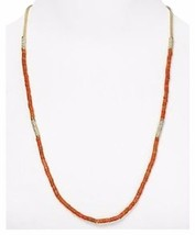 Michael Kors MKJ1739710 Coral Beaded Summer Jet Set Necklace with Pave Detailes - $49.75
