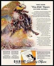 Bronco Horse AD 1947 Cowboy Benton Clark Western Art Gilbert Papers AD - $18.99