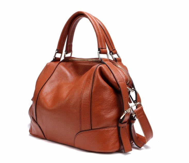 100%Genuine Leather Women Shoulder and Handbag