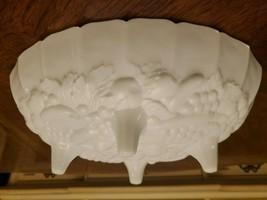 Vintage Westmoreland Heavy White Milk Glass Large Footed Fruit Bowl. EUC! - $21.73