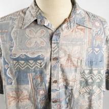 Cooke Street Reverse Print XL Floral Tribal Hawaiian Aloha Shirt - $29.69