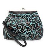 Patricia Nash Savena Turquoise Tooled Wristlet - $65.00
