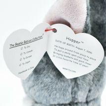 2000 Ty Beanie Baby Hopper the Bunny Rabbit Retired Beanbag Plush Doll Toy image 6