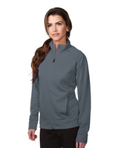 Tri-Mountain Lady Exocet KL630 Knit Full zip Jacket - Steel Gray - $29.05+