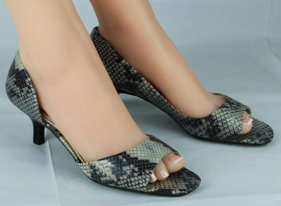 Franco Sarto L Dash Femmes M Talons Ouvert Orteil Animal Imprimé Chaussures 8.5M image 6