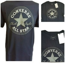 Converse Mens Chuck Taylor All Star Size Small Crew Neck T Shirt Color Navy - $25.99