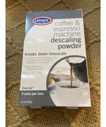 Urnex DEscalinActivated Scale Remover Powder 3 Pack For Coffee Brewing e... - $11.69