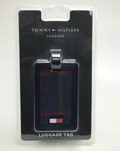 TOMMY HILFIGER Bag Plaid Luggage Bag Tag, Jacquard Travel Name Tag ID NE... - $14.85