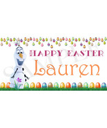 Olaf Easter Basket Sticker, Waterproof and Personalized - $3.25+