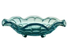 Blue Serving Glass BOWL Arts Crafts English Ant... - $28.49