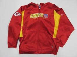 NFL Reebok Kansas City Chiefs Zip Up Hooded Sweatshirt Adult Size Large - €29,38 EUR