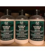 The Body Shop WATERMELON PASTEQUE Body Lotion Lot 8.4 Fl Oz X 3  - $39.55