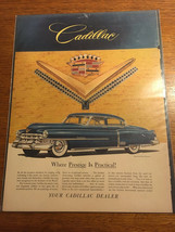 "1952 Cadillac Sedan Golden Anniversary Car art vintage print Ad 10.5"" x 14"" - $7.55"