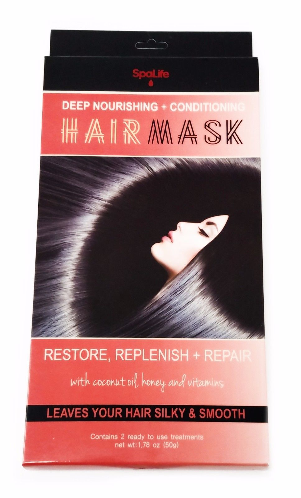 SpaLife Deep Nourishing + Conditioning Hair Mask, 2 Ready-to-Use Treatments