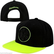 BOSTON BRUINS REEBOK NK54Z NHL NEON BILL TEAM LOGO SNAPBACK HOCKEY CAP/HAT - $19.90
